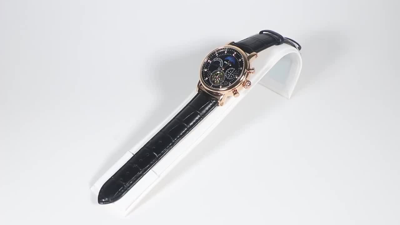 KINYUED watch brand kinyued diamond movements watches Oem tourbillion skeleton watch