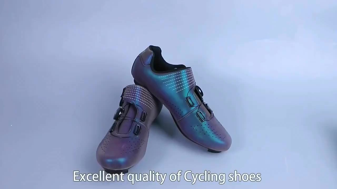 Wholesale high quality spd reflective bicycle cycling sneakers