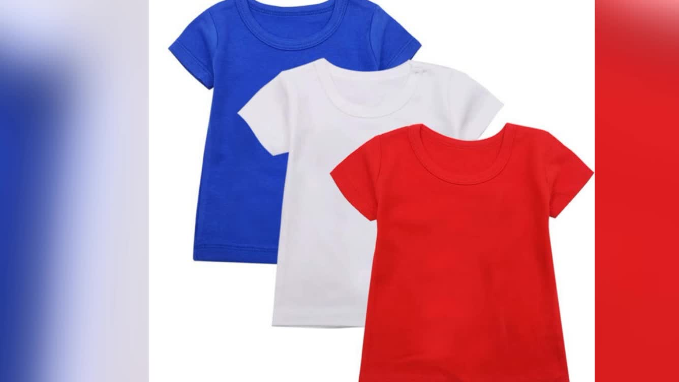 Wholesale new design best quality child plain tshirt summer baby clothing short sleeve baby tank top