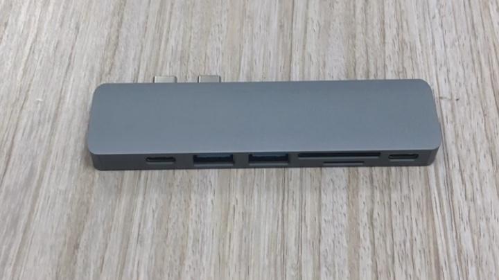 HCET Alüminyum Alaşımlı Tip C Hub, 7 in 1 USB C Multiport Adaptörü Şarj Aksesuarları için Macbook Pro Hava