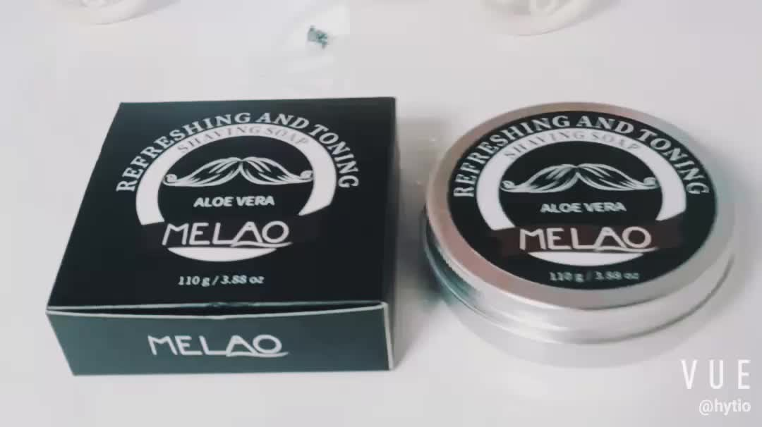 MELAO Shaving Soap - Sandalwood - Simply the Best Luxury Shaving Cream - Tallow - Dense Lather with Fantastic Scent for