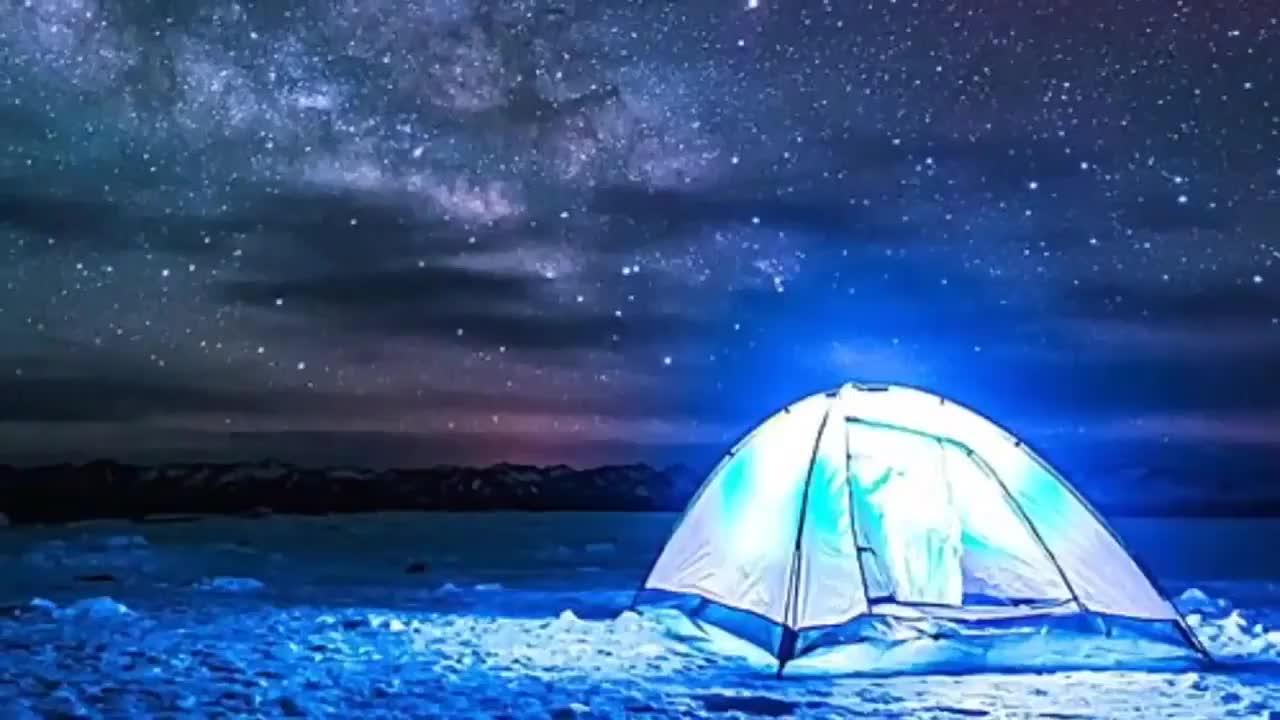 JELO Lentera Berkemah Portabel 2-IN-1, 18 LED dengan Kipas Langit-langit Lampu Tenda Darurat Alat Penerangan Berkemah Keren