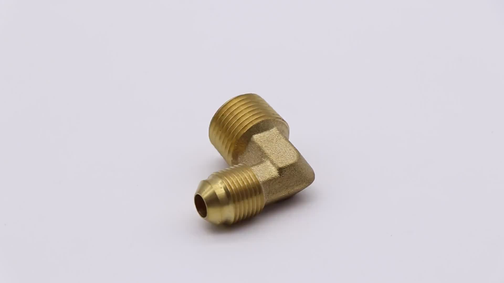 K519 male thread elbow brass flare fitting, gas pipe fitting elbow for gas