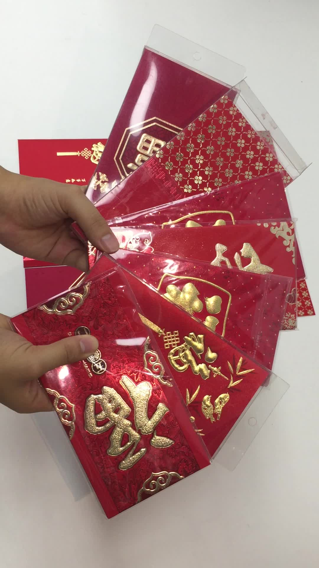 2018 Cheap New Custom Gold Foiling Red Lucky Money Envelope Chinese Red Packet