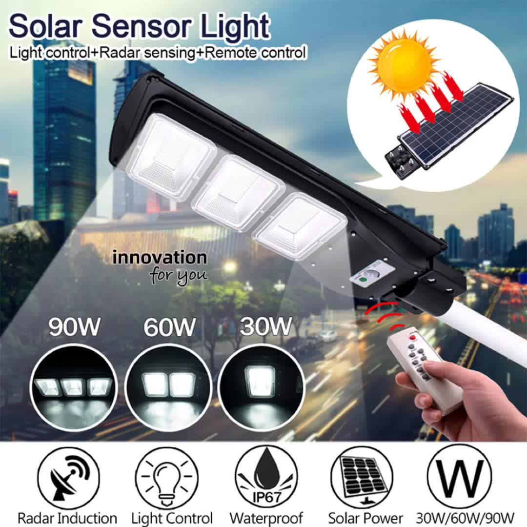 Langy ufficiale 90W integrato il tutto in una luce di via solare
