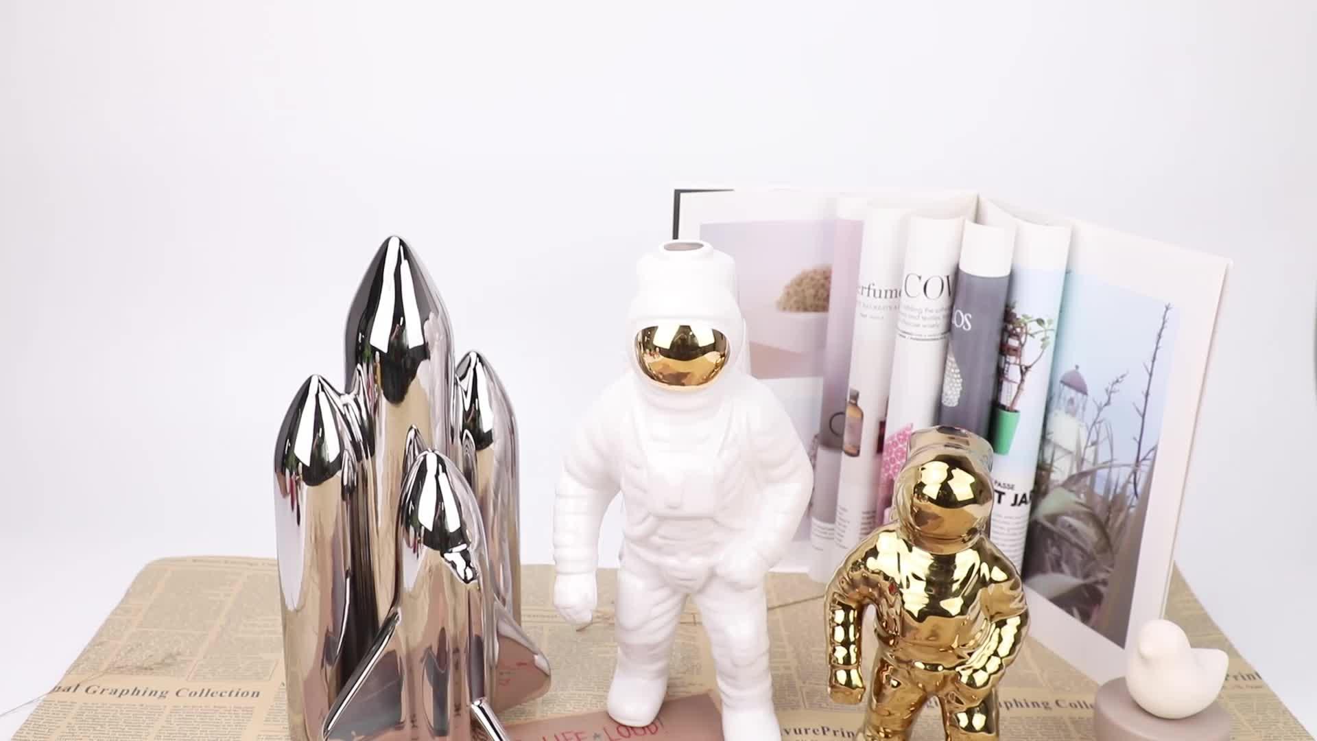 Thuis luxe decor keramische astronaut pop figuur