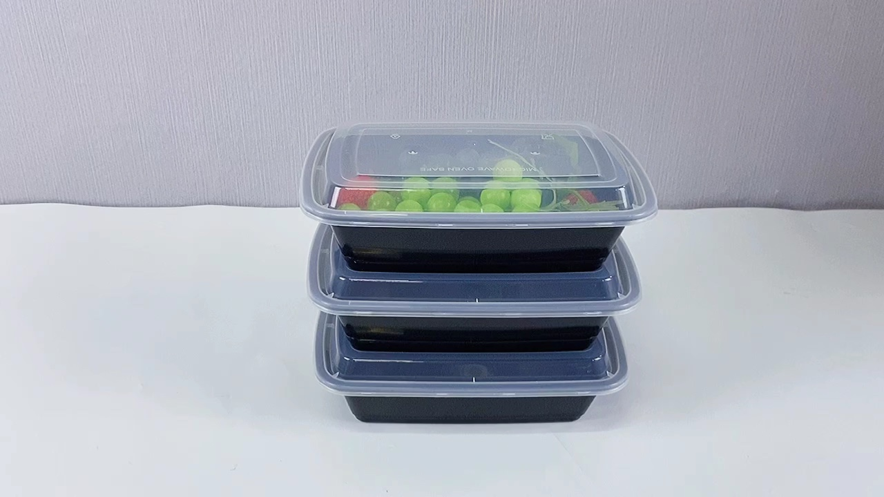 28oz BPA Free 1 Compartment Meal Prep Lunch Containers, Food Storage Bento Box With Lid