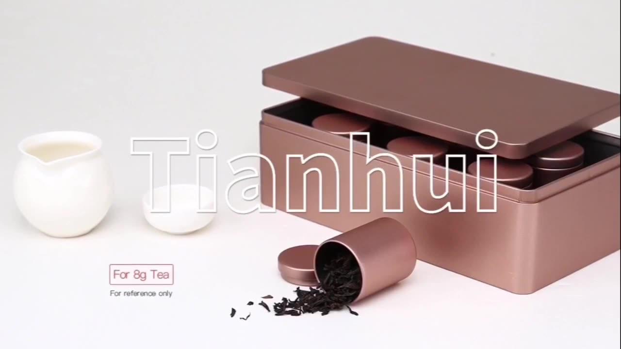 Personnalisé Imprimé Chocolat Cookie Thé Emballage Étain Boîte En Métal