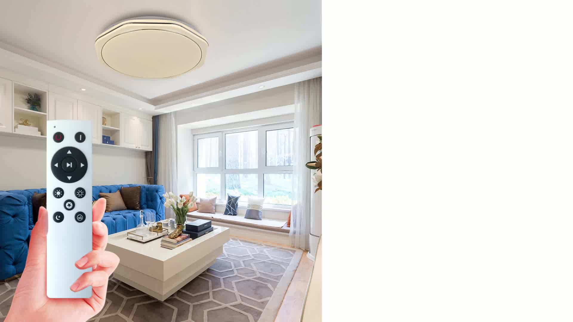 ENVIS 36W Smart Control Serie Infrarood Control Plafondlamp CE RoHS Acryl Moderne Eenvoudige Plafondlamp met Sliver Velg