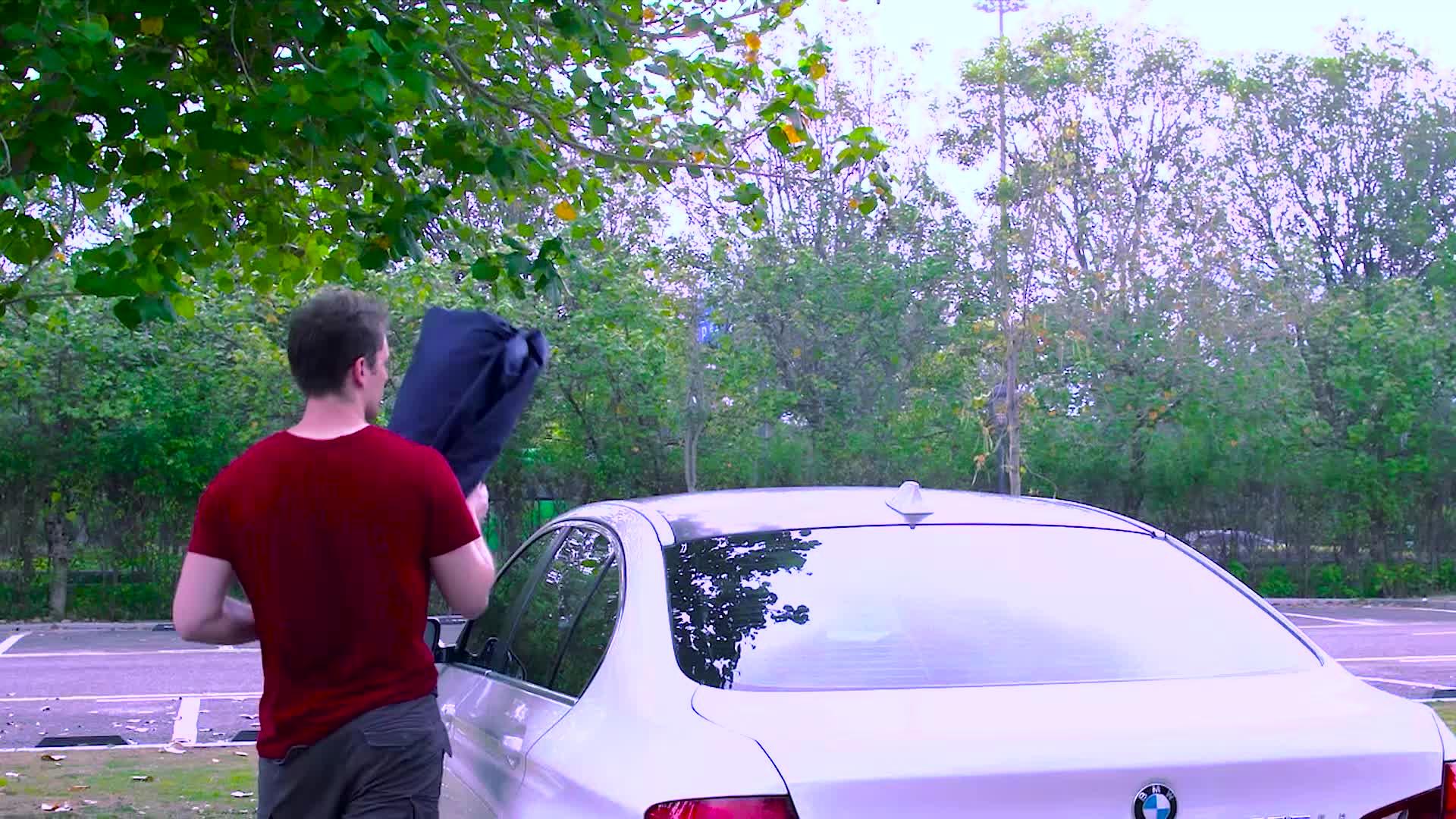 Akıllı Elektrikli araba kılıfı Katlanır Taşınabilir araba şemsiyesi Uzaktan Kumanda ile