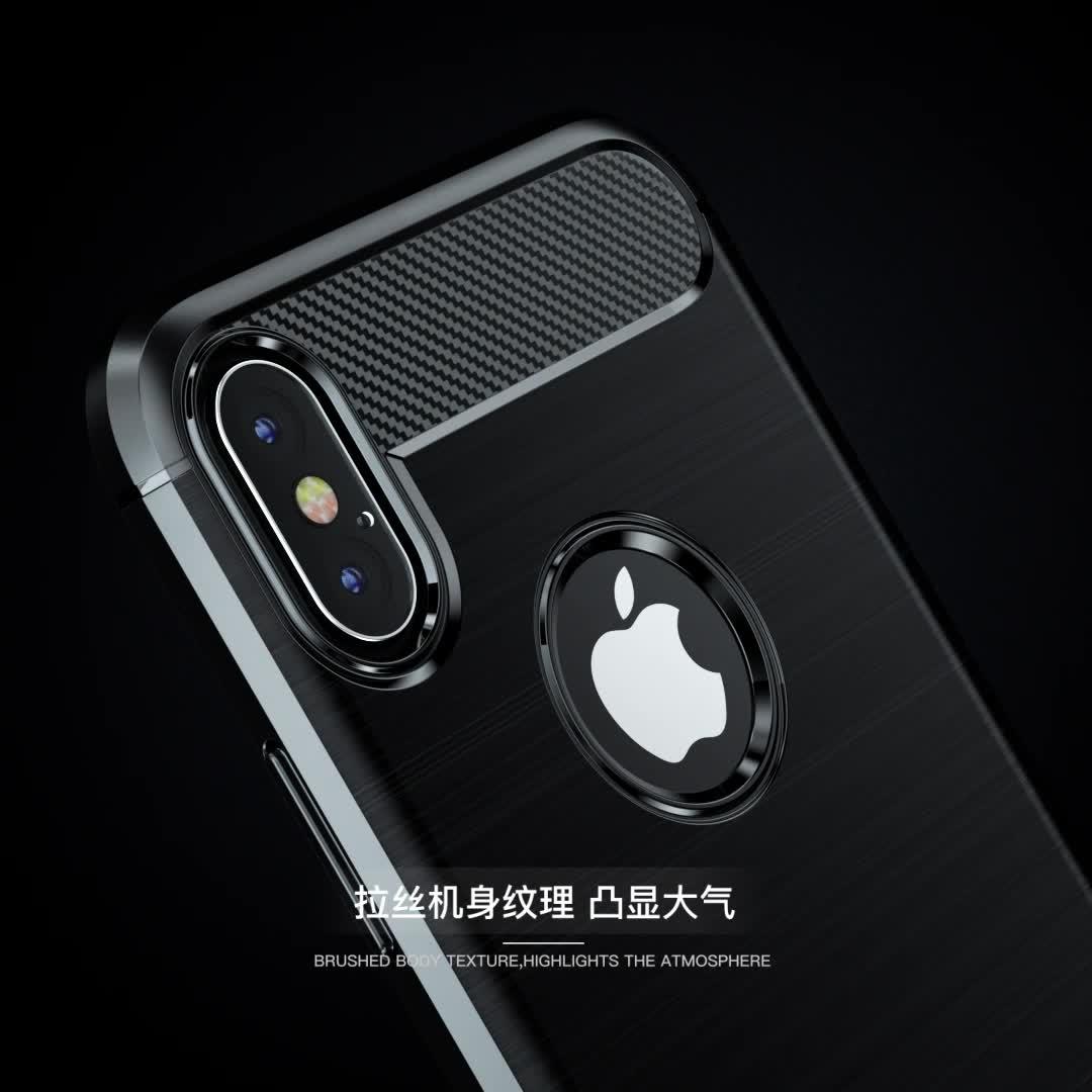 คาร์บอนไฟเบอร์ Tpu ซิลิโคนสำหรับ Xiaomi Mi A2 Lite
