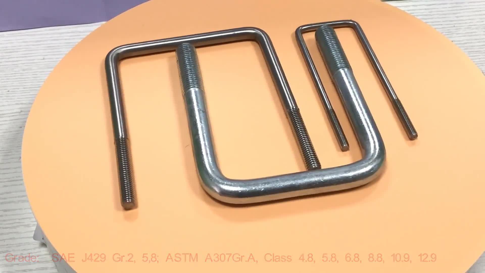 Big size ansi rubber coated 304 stainless steel square U bolt