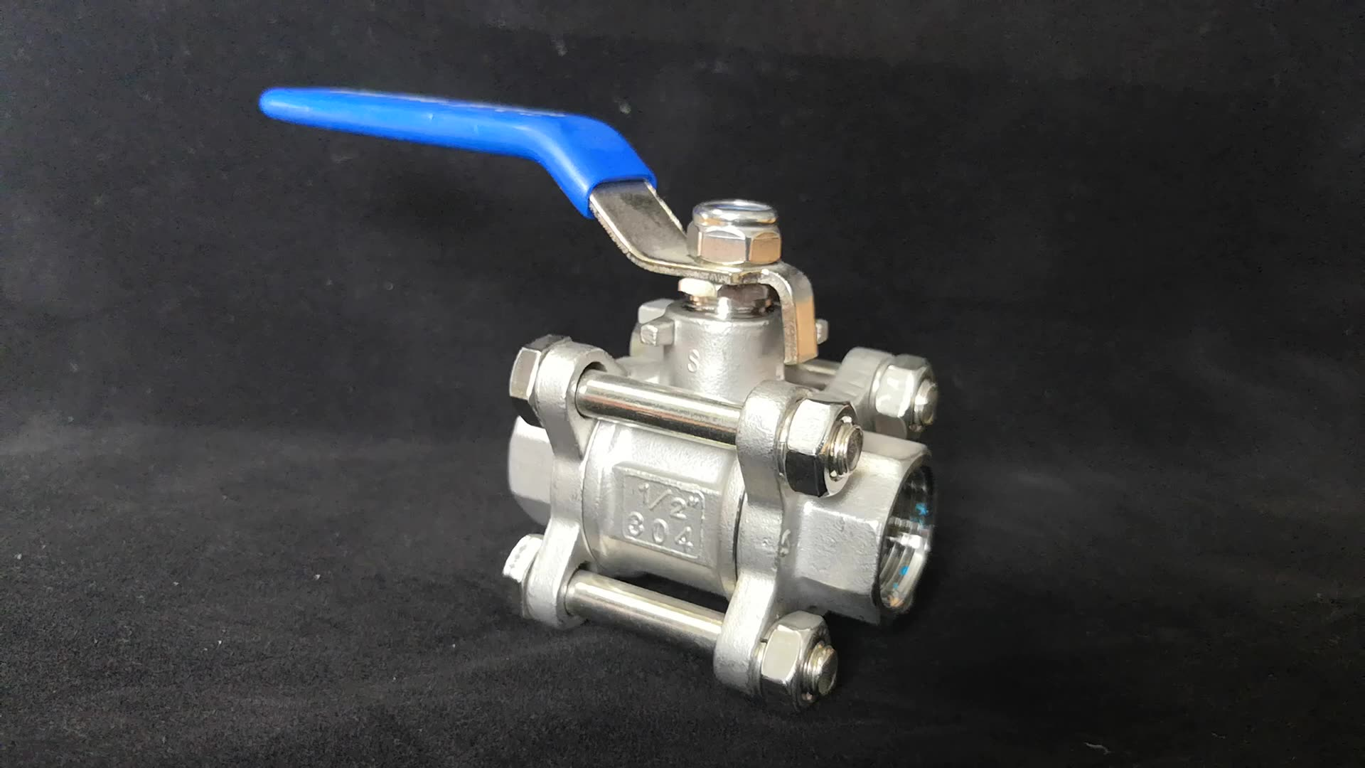 3 PCS Dn50 Pn63 Stainless Steel Direct Mounting Ball Valve