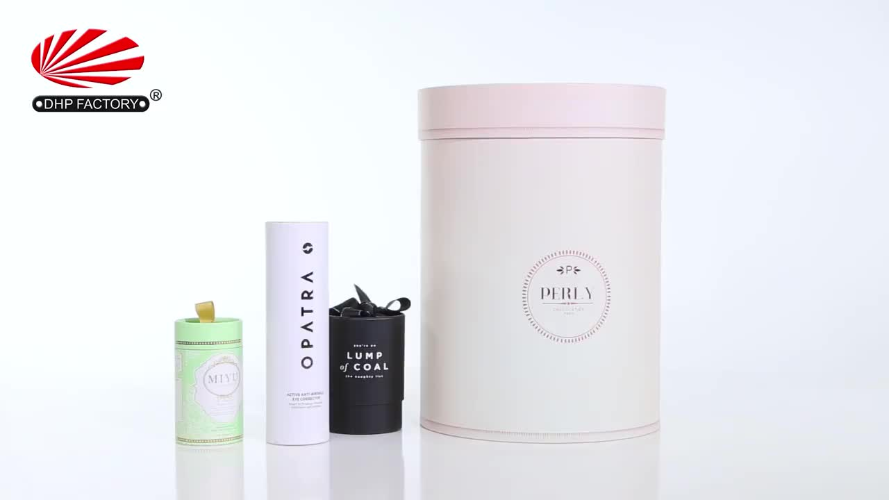 Round Cylinder Wine Paper Gift Box For Flower