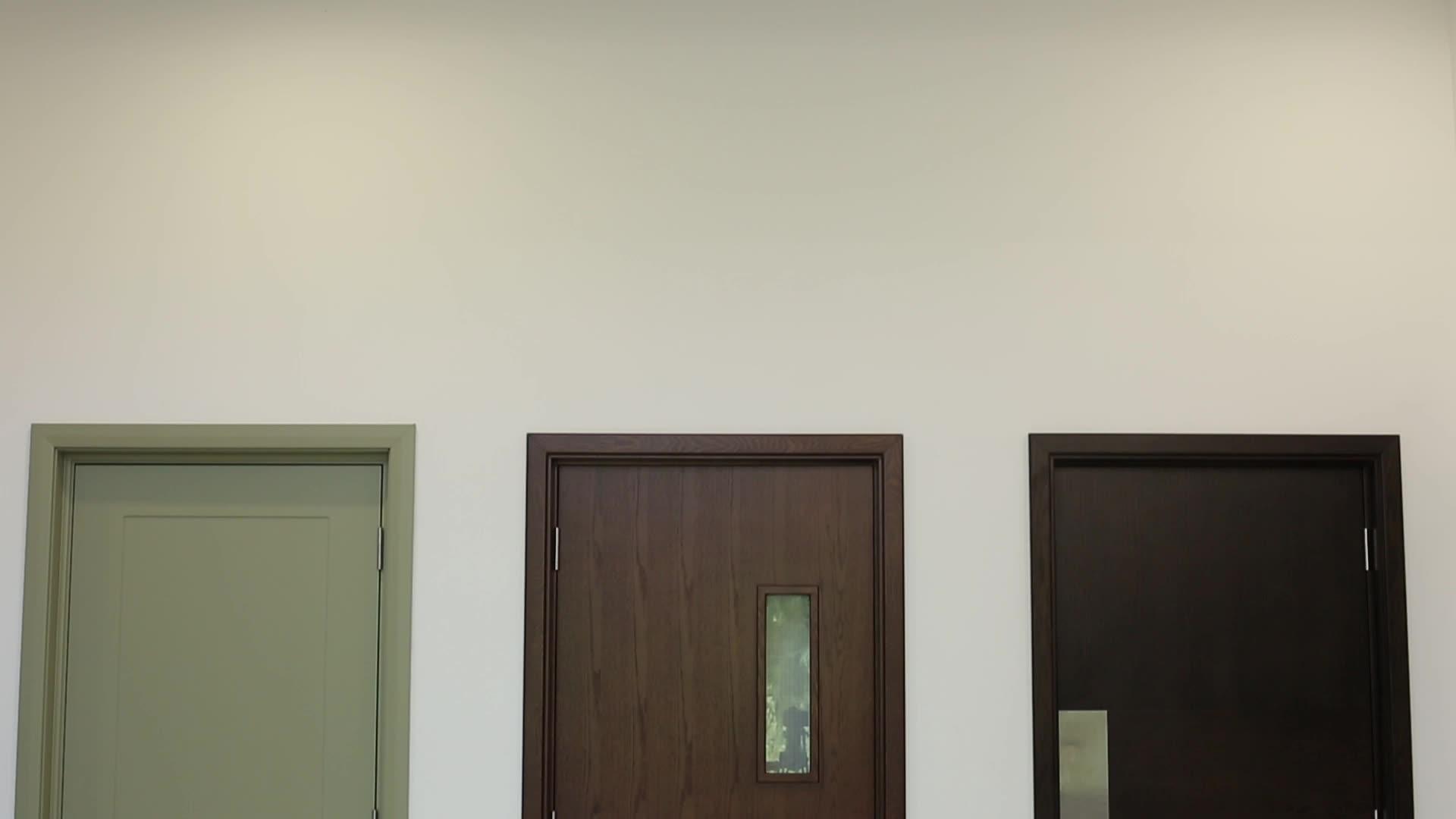 180 دقيقة WHI UL المدرجة الصلب النار تصنيف الأبواب مع اللوحة النهائية