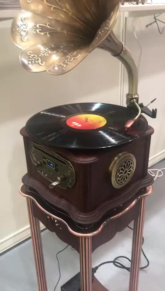 Cantik Art Tak Tertandingi Multimedia Classicphonograph Turntable Electronicmusic Homefurnishing Kerajinan Nirkabel CD Player Speaker
