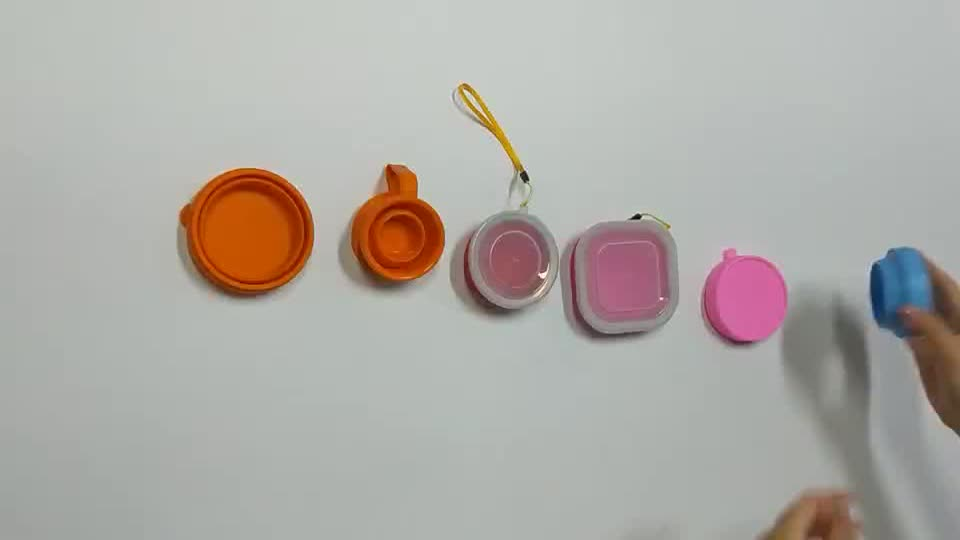 Shenzhen Factory Travel Silicone Collapsible Folding Cups Drinking Cup
