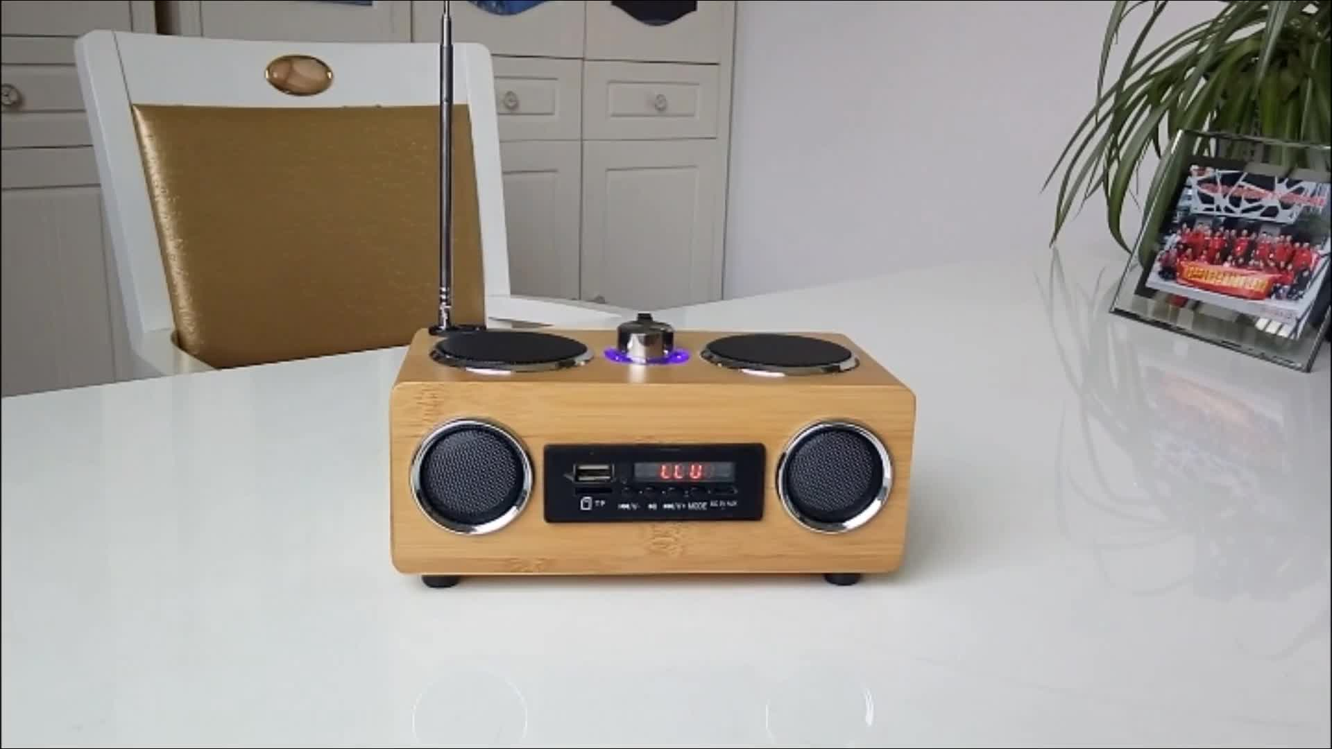 2019 hot sem fio novo design quadrado portátil speaker/mini speaker bluetooth a partir de Tecnologia De Bambu