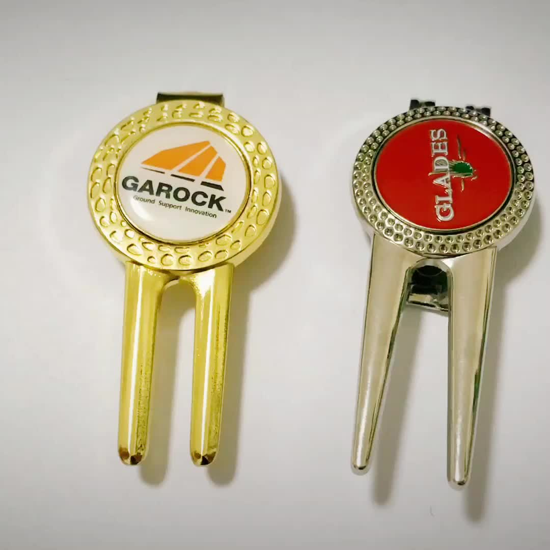 Hohe Qualität Golf Divot Werkzeuge Und Ball Marker hut clip custom logo golf divot werkzeug