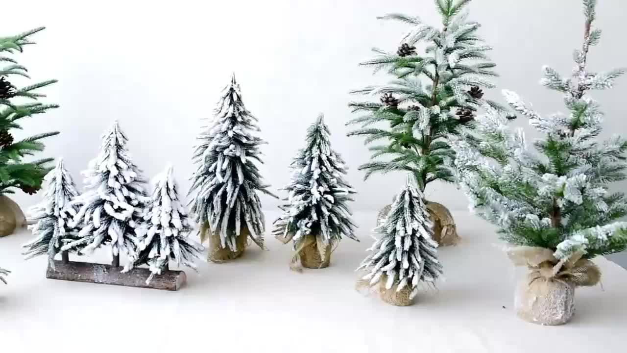 New Creative Artificial Mini Small Christmas Tree Window decoration Desktop Christmas Tree Snow Fir Decor