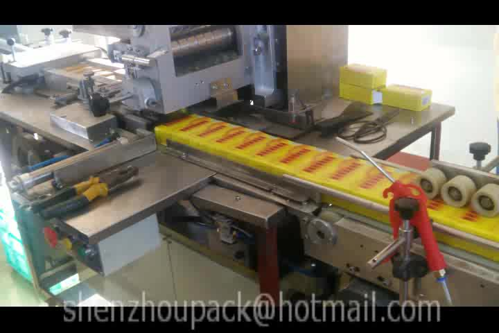 Automatic Over Wrap Packing Machine for Overwrap Packaging with Cellophane PVC BOPP Plastic Film for Small Products Box