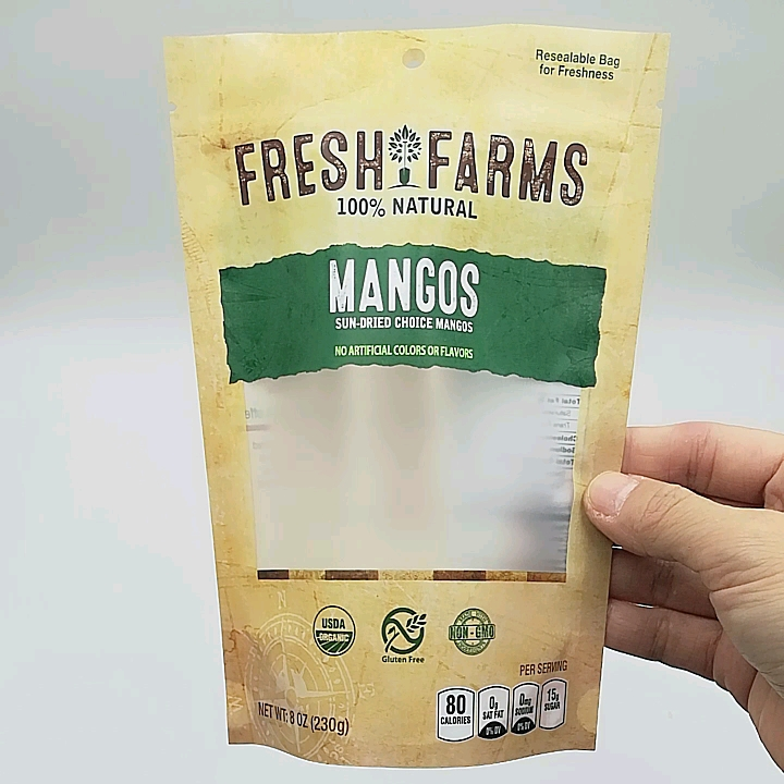 Small Size Snack Transparent  Biodegradable Food Packaging Bags For Mixed Nuts