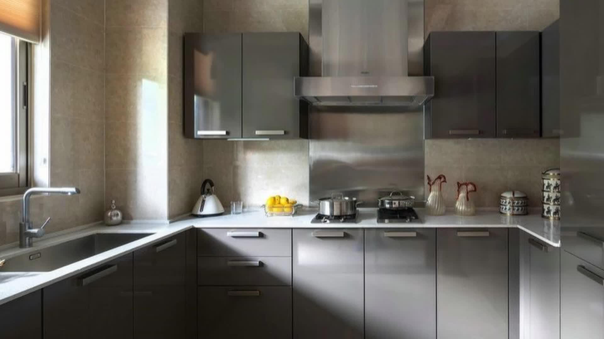 Hohe Härte Uv Funished Möbel-hochglanzsperrholz-modulare Küche Ohne ...