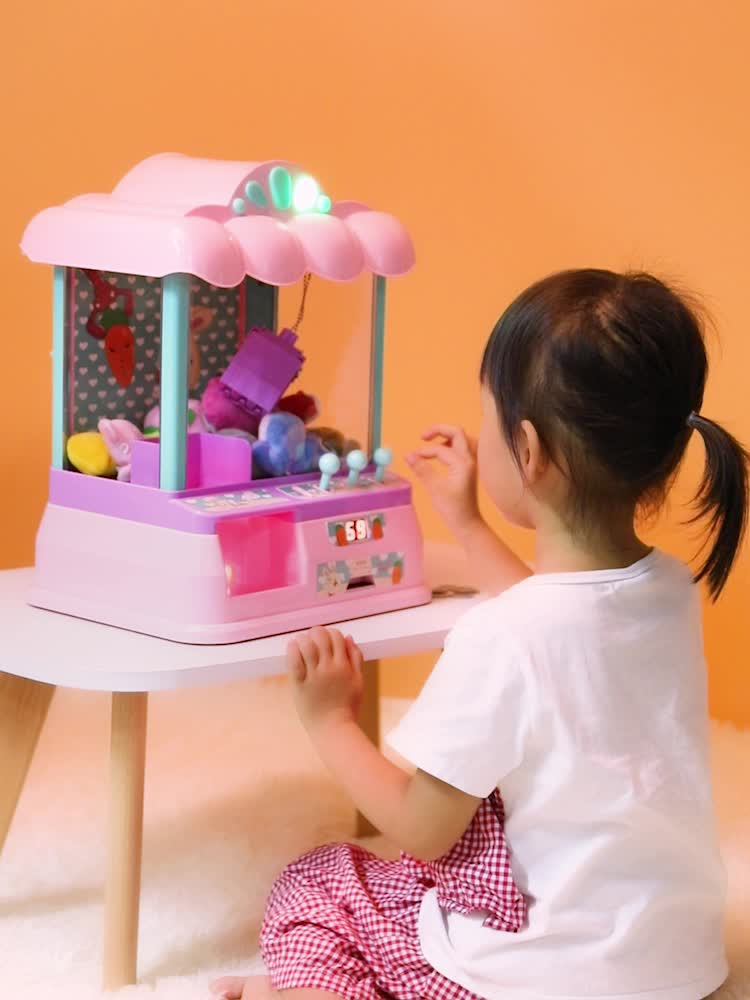 lighting music doll crane coin operated games toy mini claw machine