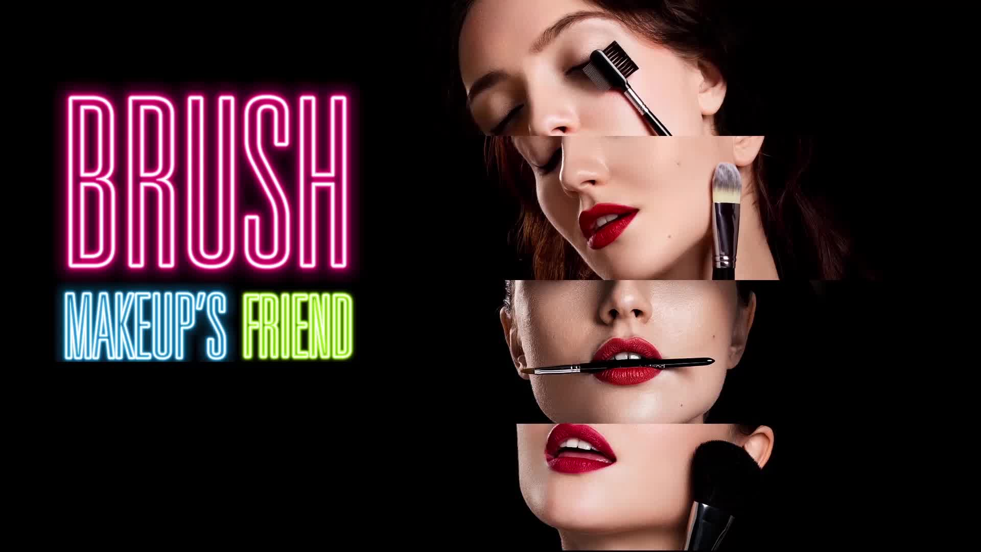 Promotional RED Makeup Brushes Set Cosmetics