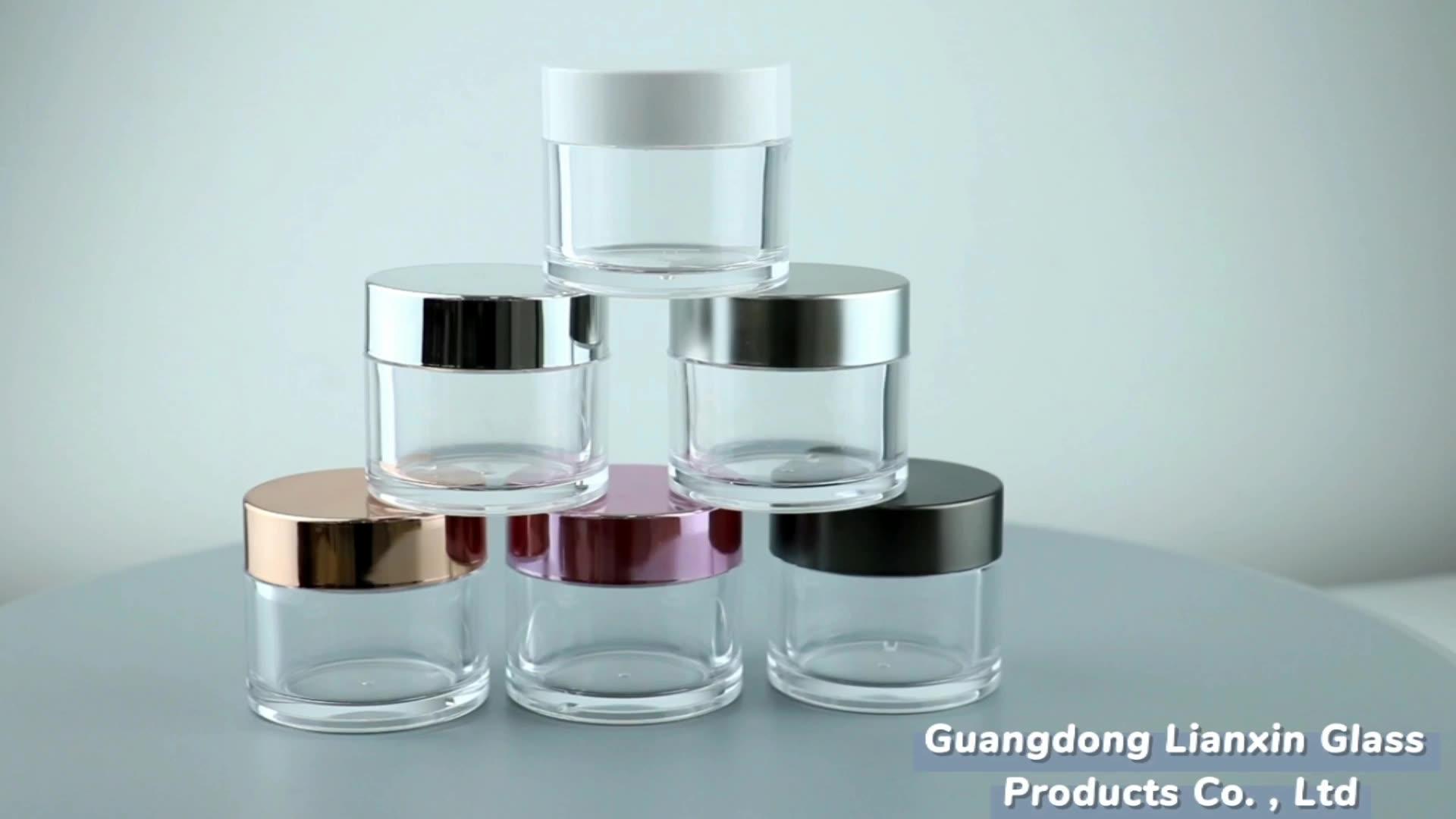 China factory custom logo 15g 30g 50g 100g 120g 150g 200g klar leere kunststoff glas für gesicht creme nagel tauch pulver