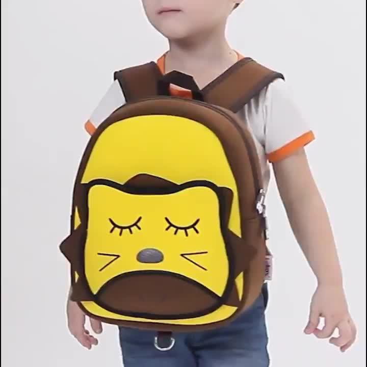 Personalizzato neoprene bambini zaino della scuola dei bambini della scatola animale sacchetto di scuola materna uni di mais sacchetto di libro per le ragazze dei ragazzi con snack ba