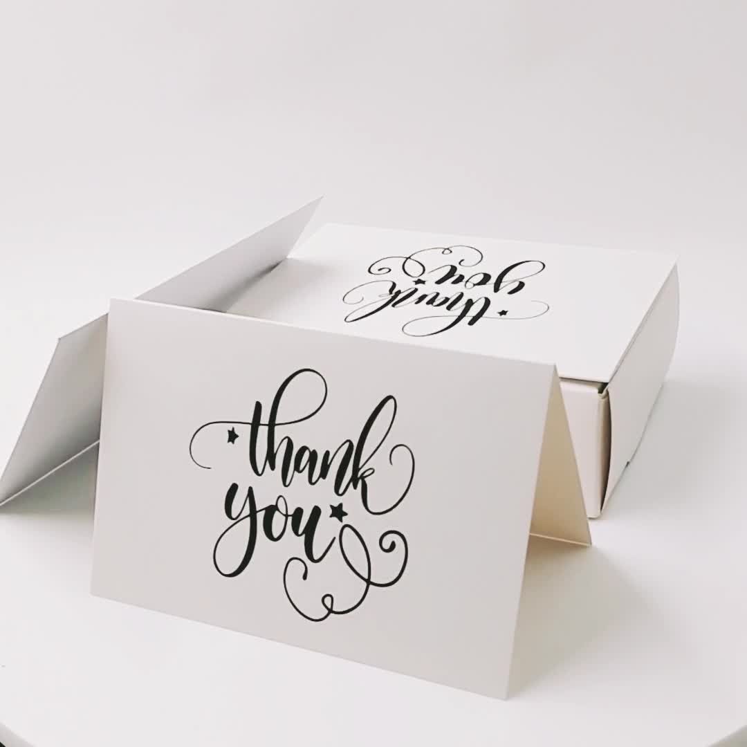 New Arrival Custom Design Pack 36/48/100 4''x6'' Thank You Card Pack