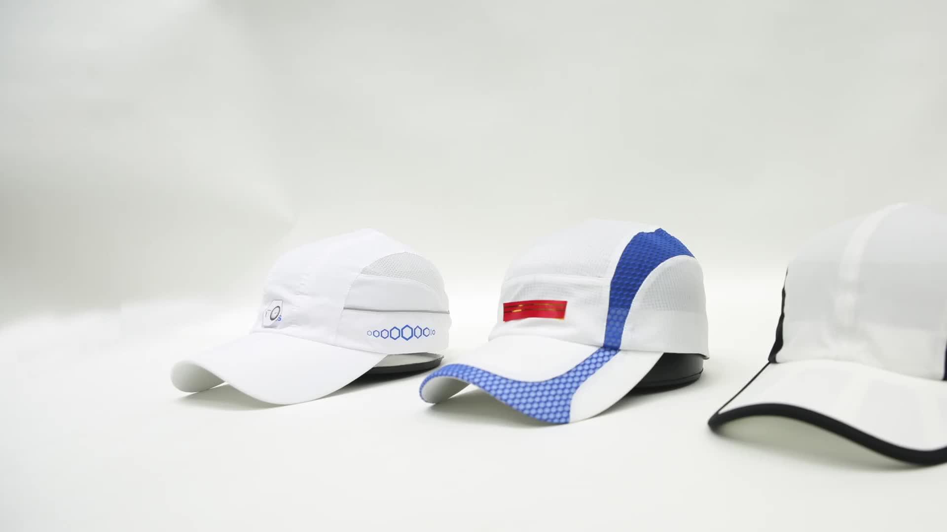 カスタムメッシュを実行しているメッシュスポーツ帽子野球キャップドライフィット帽子