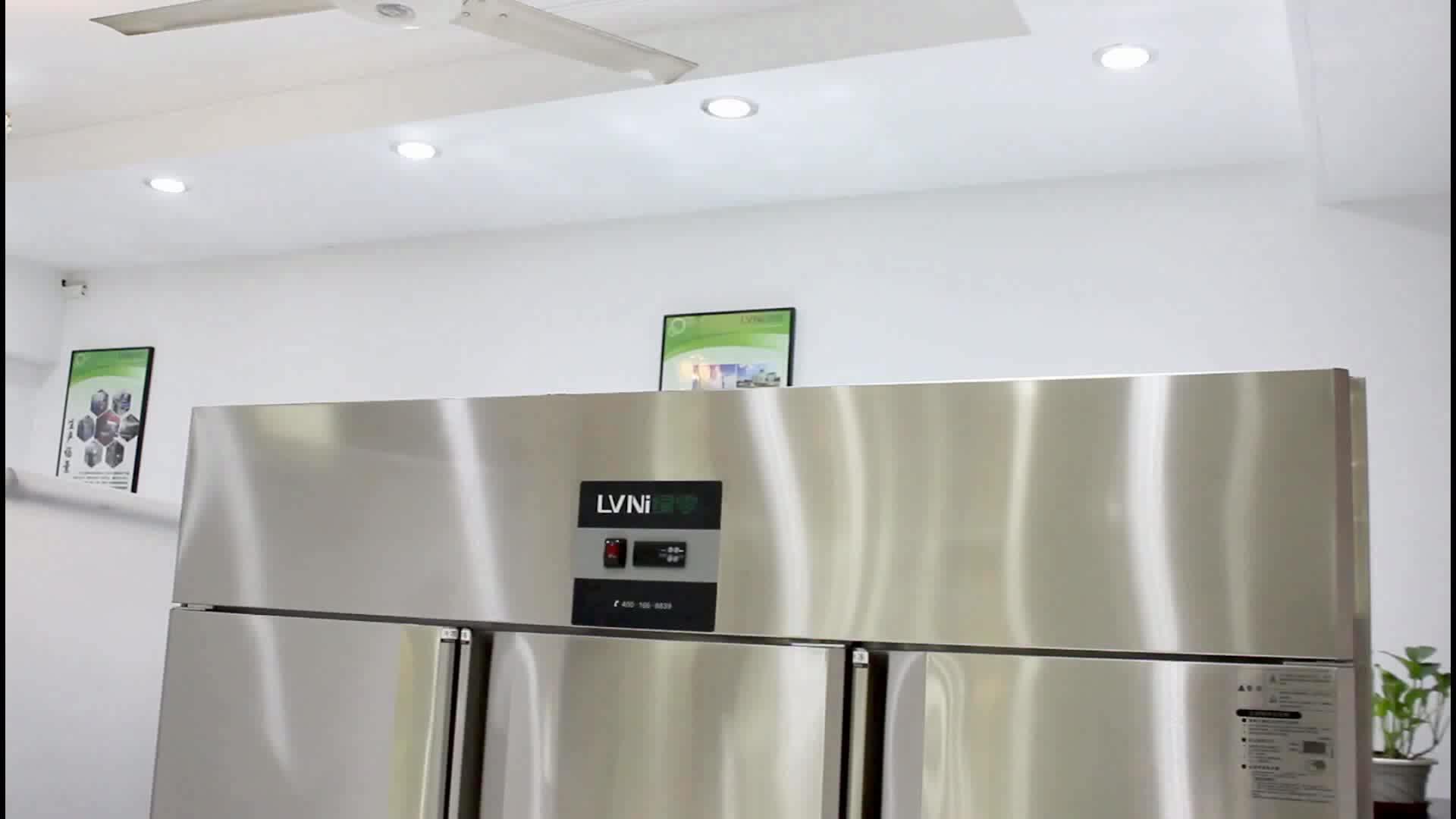 LVNI Singapore used P series 6 door 1580L big upright freezer chiller for restaurant