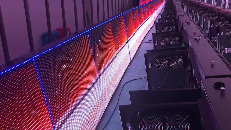 Basketball Stadium P4P5P6P8P10 Outdoor Full Color Football Sport Perimeter LED Screen Display