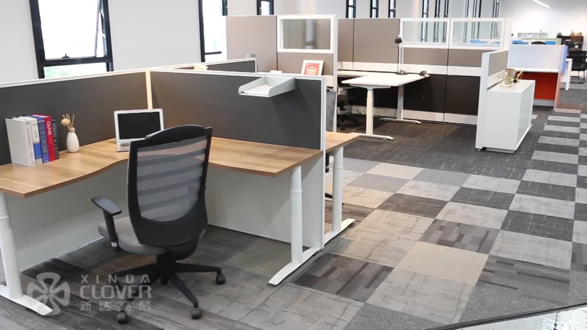 Customized T3 series used 32mm thickness aluminum partitions modular single side office cubicle 2 person workstation