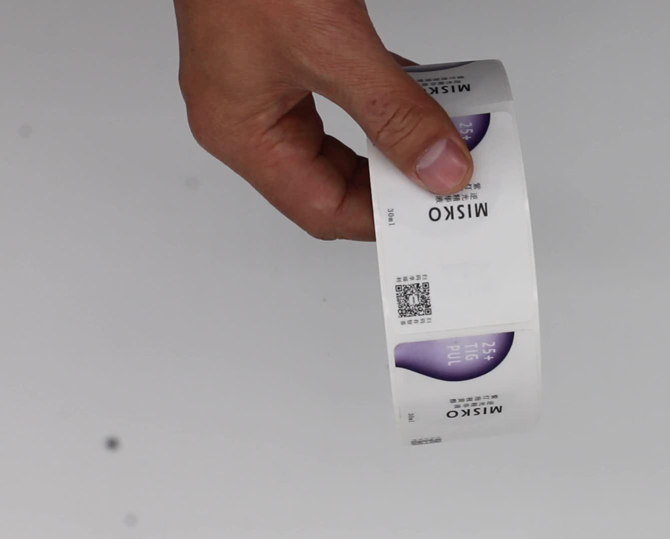 Benutzerdefinierte Klebstoff Honig Jar Label aufkleber Druck