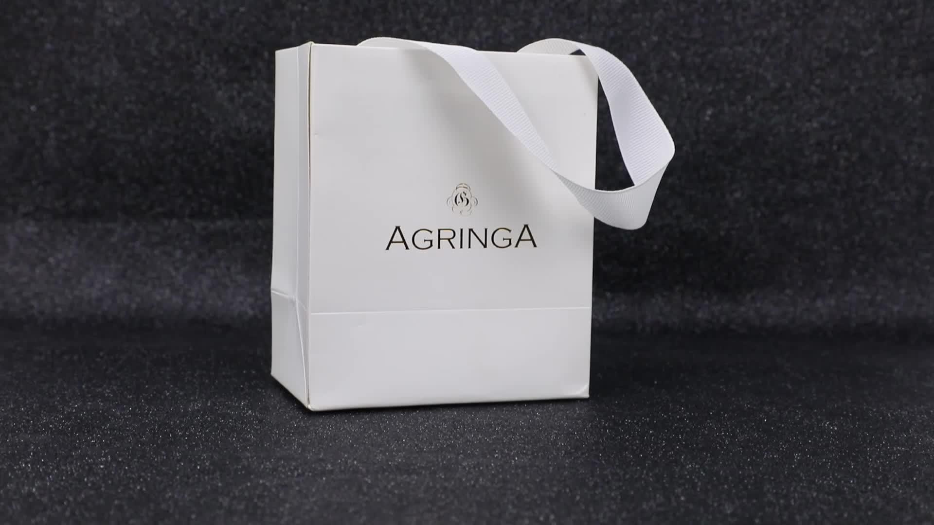 Personalizado impresso mini presente de luxo embalagem grande pingente jóias colar caixa pacote de papel com logotipo