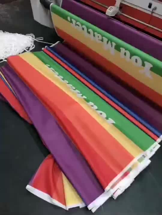 3x5 ft Quick Delivery Vivid Color UV Resistant Wholesale Polyester LGBT Gay Pride Rainbow Flag