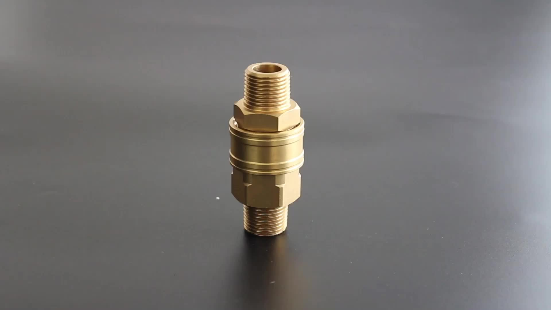 ZJ-KB brass high pressure washer straight through quick disconnect hose fittings