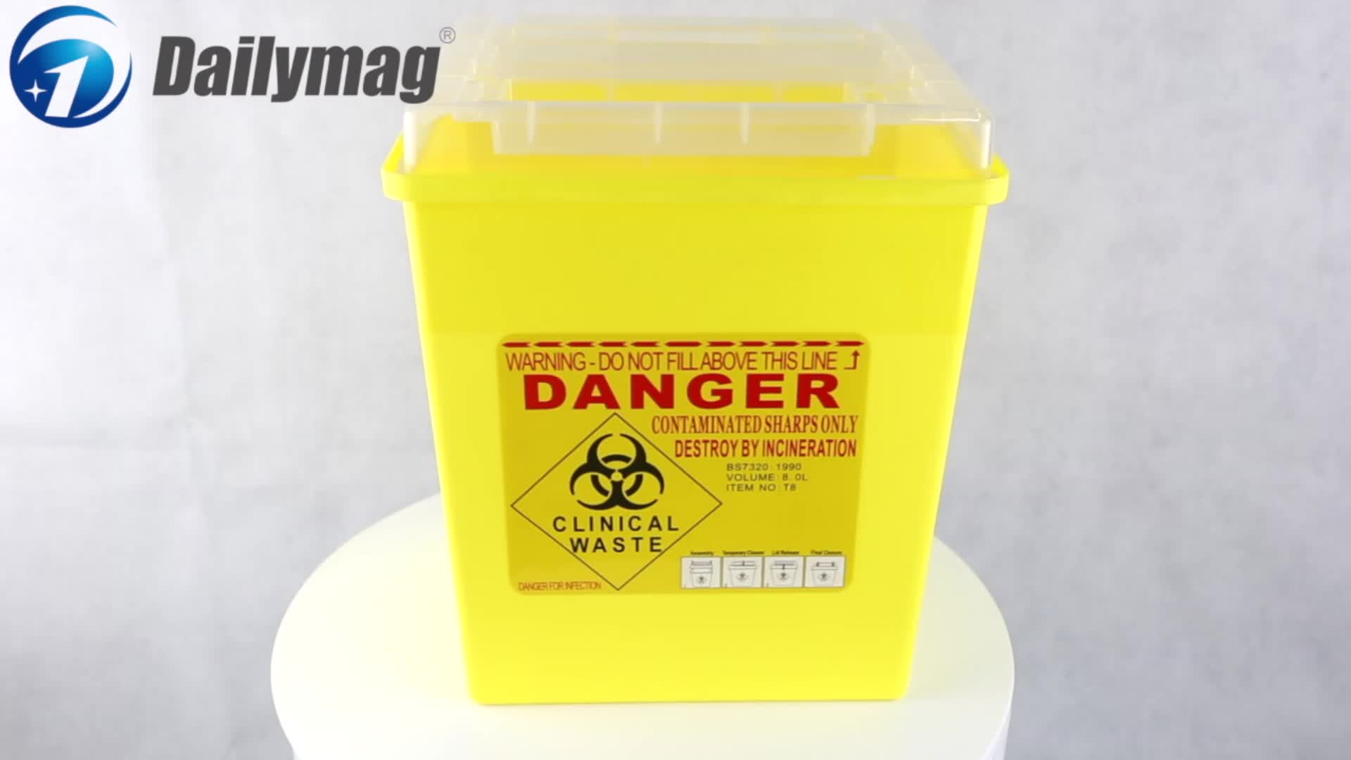 FDA Wall Mounted Disposal Sharps Container
