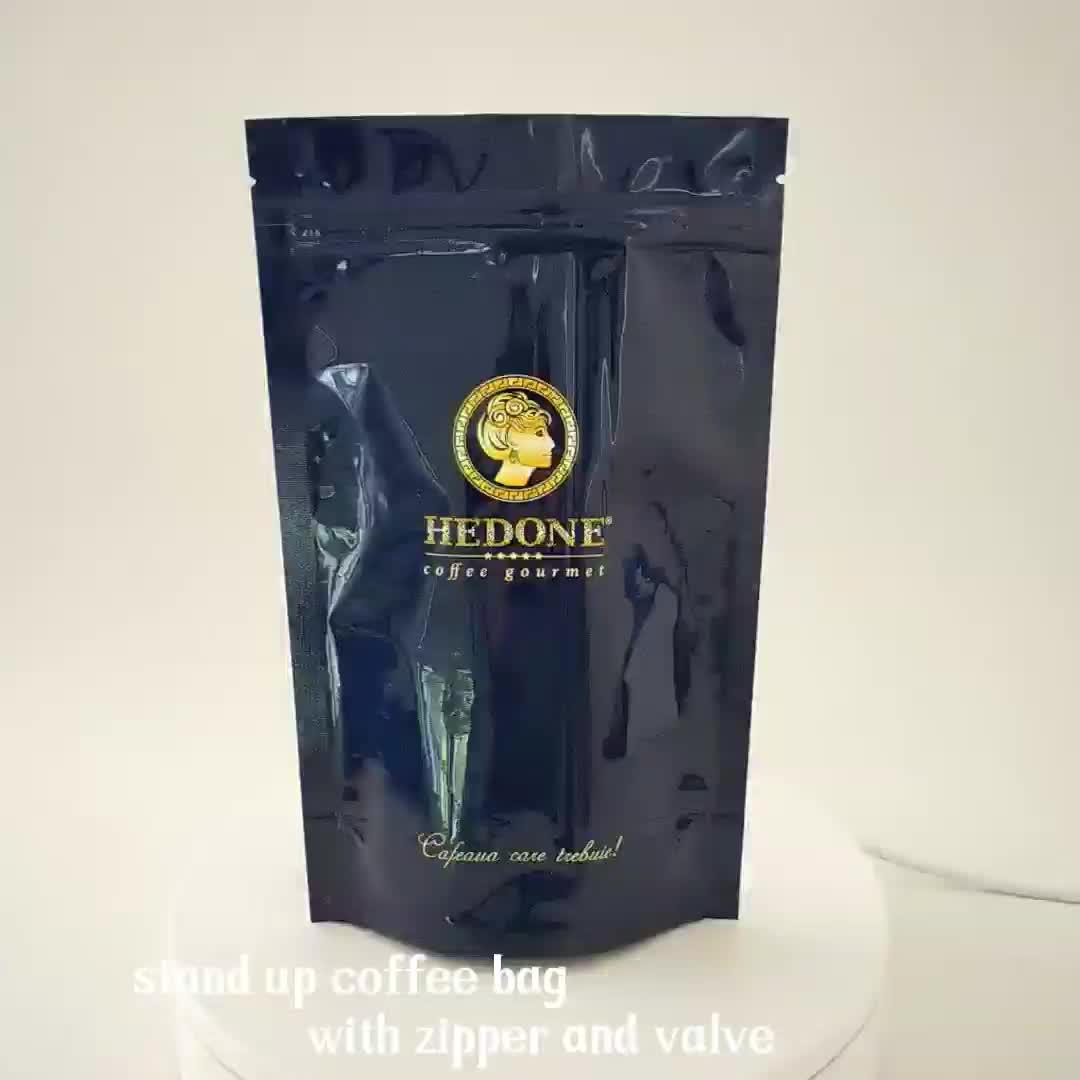 China Factory Direct Stand Up Verpakking Koffie Zak Met Klep
