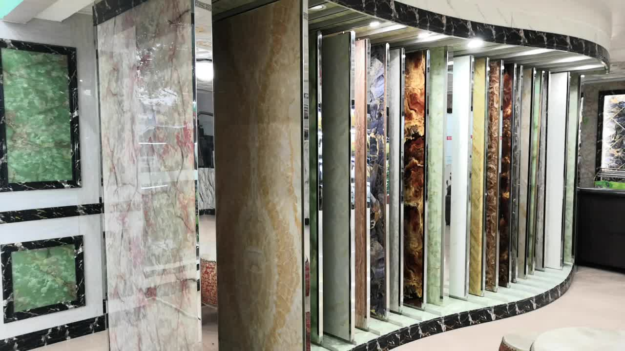 Customizable Styles Eco Marbling Wall  Panel For Interior Decorative