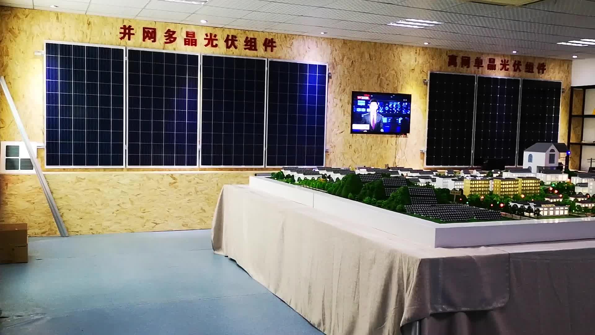 poly transparent double glass solar panel