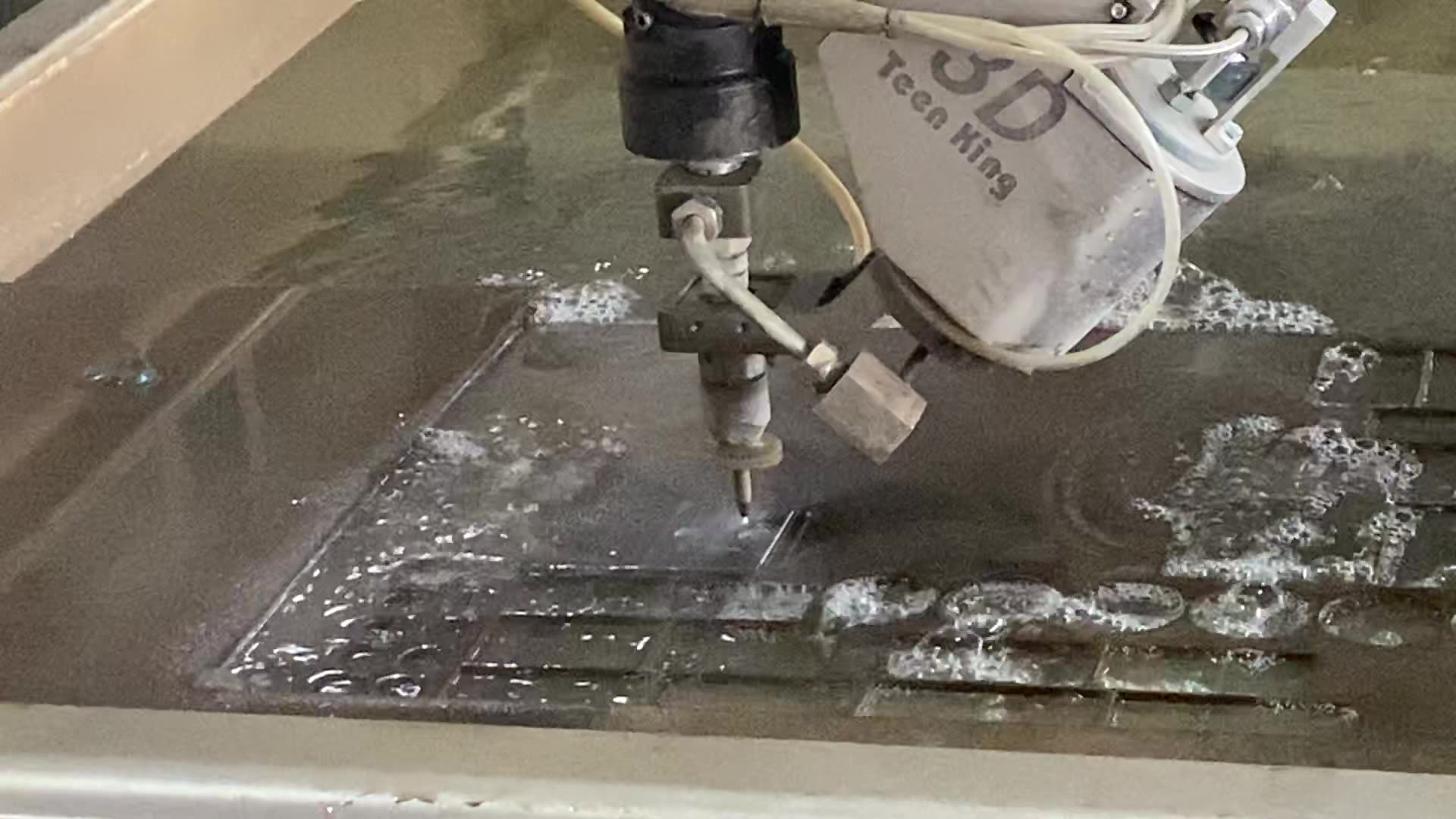Waterjet cutting machine for parquet cutting
