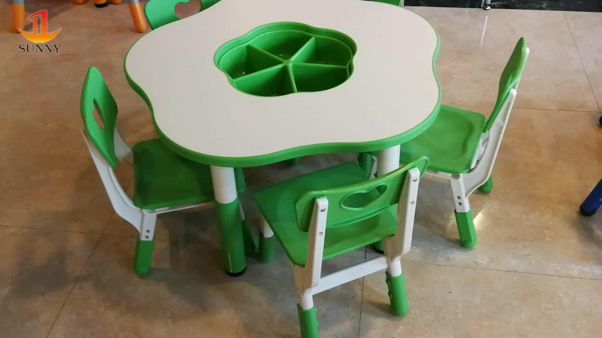 Plastic goedkope kleuterschool tafel stoel sets voorschoolse school student kinderen kids studie tafel