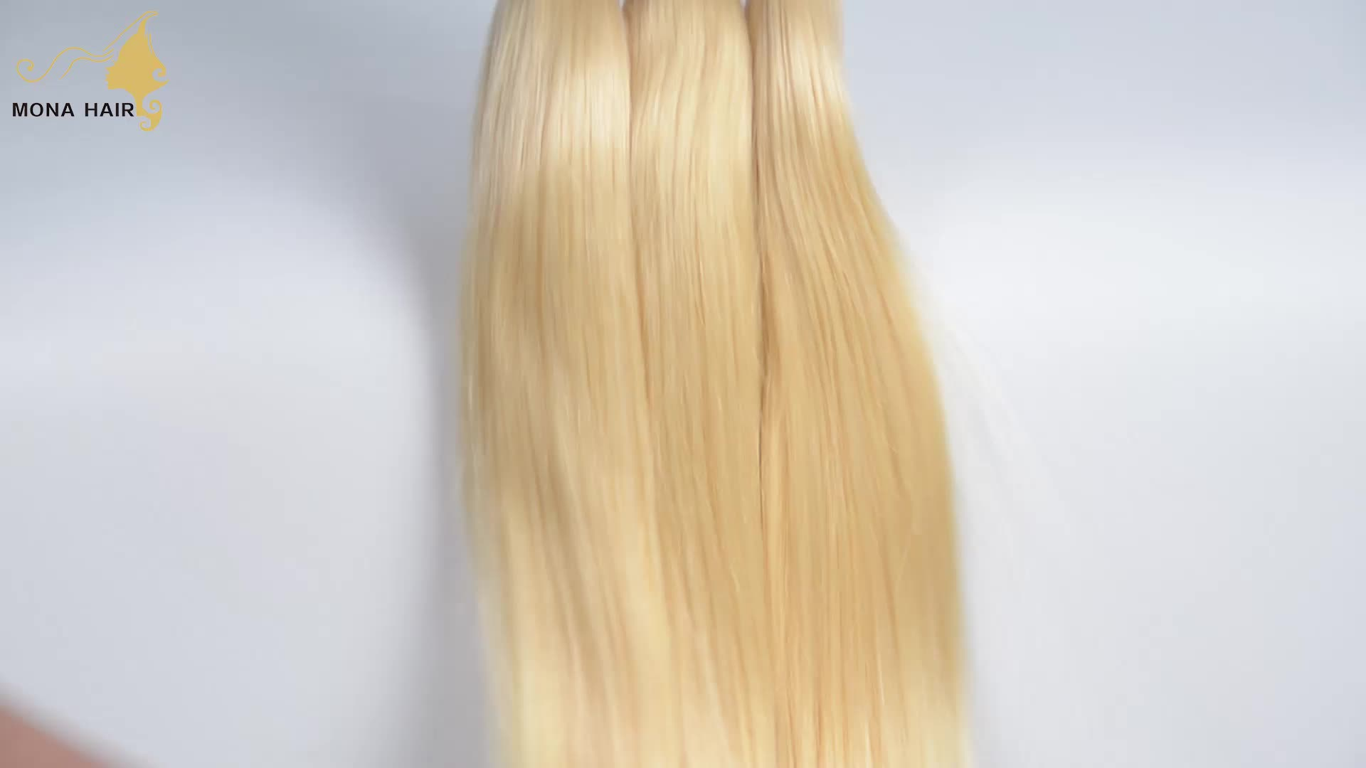 Best Quality Virgin Human Hair Weft Blonde Color 613 Brazilian Hair