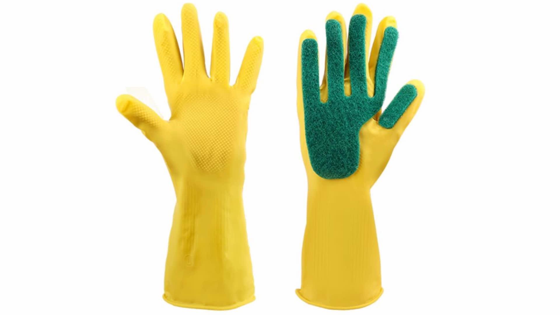 Hot Haushalts Silikon Rubber Dish Waschen Handschuhe latex gummi küche dish waschen handschuhe Für Reinigung