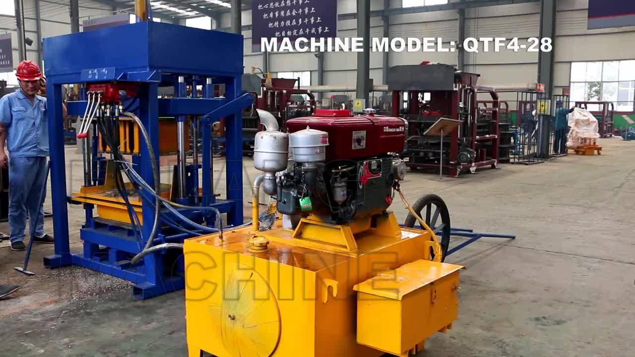 diesel hydraulic concrete blocks making machine