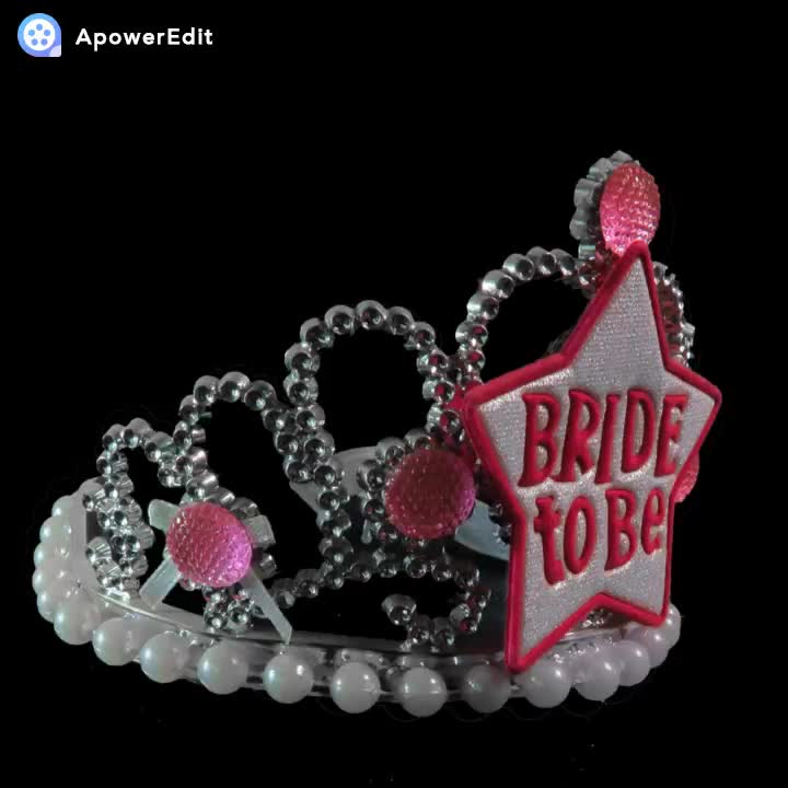 Princess Crown Plastic With Feather Bride To Be Hen Party